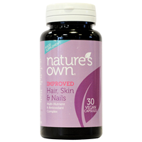 Natures Own Hair, Skin & Nails - 30 Vegan Tablets