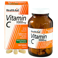 HealthAid Vitamin C - 100 x 1000mg Vegan Tablets