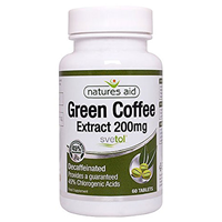 Natures Aid Green Coffee Extract - 60 x 200mg Tablets