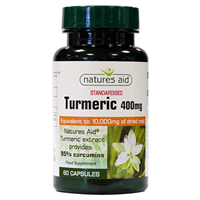 Natures Aid Standarised Turmeric - 60 x 10,000mg Caps