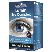 Natures Aid Lutein Eye Complex - Bilberry - 90 Tablets