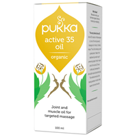 Pukka Active 35 Oil - Organic Blend for Massage - 100ml