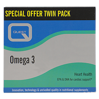 Omega 3 Fish Oil - Twin Pack - 90+90 x 1000mg Capsules