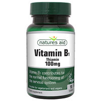 Natures Aid Vitamin B1 - Thiamin  - 90 x 100mg Tablets
