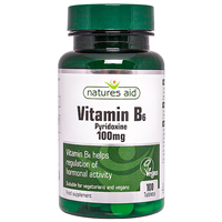 Natures Aid Vitamin B6 - Pyridoxine  - 100 Tablets