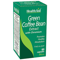 HealthAid Green Coffee Bean Extract - 60 Vegicaps - Best before date is 30th April 2020