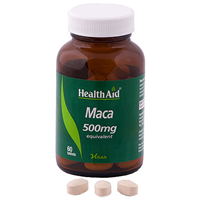HealthAid Maca 500mg Equivalent - Vegan 60 Tablets