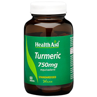 HealthAid Turmeric 750mg Equivalent - 60 Vegan Tablets