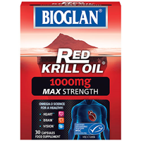 Bioglan Red Krill Oil - 30 x 1000mg Capsules