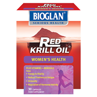 Bioglan Red Krill Oil - Women`s Health - 30 Capsules