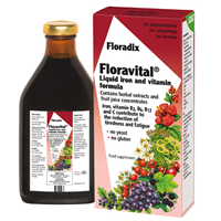 Floradix Floravital Yeast Free Liquid Iron & Vitamins -250ml