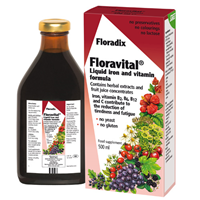 Floradix Floravital Yeast Free Liquid Iron & Vitamins -500ml