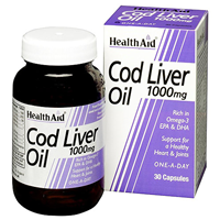 HealthAid Cod Liver Oil - 30 x 1000mg Capsules