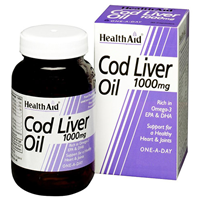 HealthAid Cod Liver Oil - 60 x 1000mg Capsules