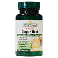 Natures Aid Ginger Root - 90 Tablets