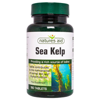 Natures Aid Sea Kelp - Iodine - 180 Tablets