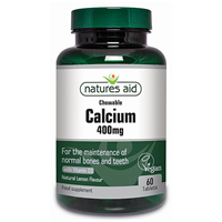 Natures Aid Chewable Calcium - Vitamin D - 60 Tablets