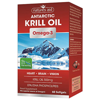 Natures Aid Omega 3 Krill Oil - EPA + DHA - 60 Softgels
