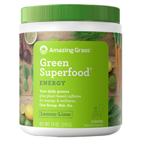 Amazing Grass Green Superfood Energy Lemon Lime - 210g - Best before date is 31st July 2019