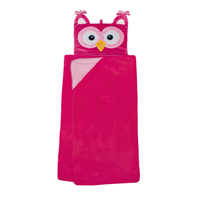 Aroma Home Hooded Blankets for Kids - Pink Owl