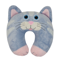 Aroma Home Neck Pillow - Grey Cat