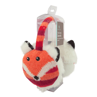 Aroma Home Knitted Fox Ear Muffs with Heat Pads