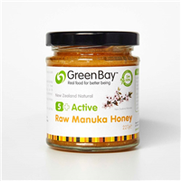 Green Bay 5+ Active Raw Manuka Honey - 227g