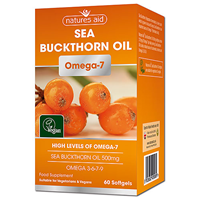 Natures Aid Sea Buckthorn Oil - 60 Vegetarian Softgels