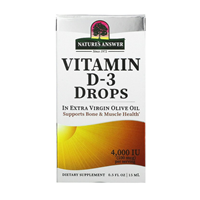 Nature`s Answer Vitamin D3 Drops - 4000IU - 15ml
