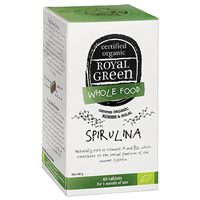 Royal Green Wholefood Spirulina - 60 x 1000mg Tablets