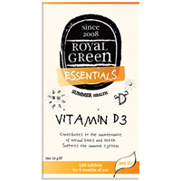 Royal Green Vitamin D3 - 300iu x 120 Tablets