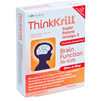 ThinkKrill Brain Function for Kids - 30 Capsules