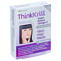 ThinkKrill - Skin, Hair & Nails - 30 Capsules  - Best before date is 30th November 2016