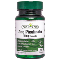 Natures Aid Zinc Picolinate - 30 x 15mg Tablets