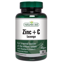 Natures Aid Zinc + C - Zinc with Vitamin C - 30 Lozenges