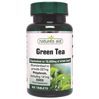 Natures Aid Green Tea 10,000mg - 60 Tablets