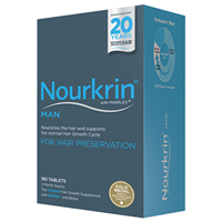 Nourkrin Man - For Hair Preservation - 180 Tablets - Best before date is 30th September 2017