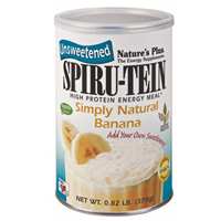 Natures Plus Spirutein Simply Natural Banana - 370g