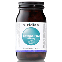Viridian Betaine Hydrochloride With Gentian - 650mg