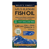Wiley`s Finest Wild Alaskan Fish Oil - 60 Easy Swallow Mini Caps