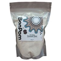 BonPom Raw Organic Coconut Flour - 500g - Best before date is 31st May 2017