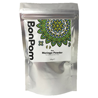 BonPom Raw Moringa Leaf Powder - 100g - Best before date is 18th September 2017