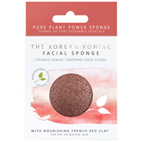 The Konjac Sponge Co Korean Konjac French Red Clay Facial Sponge -