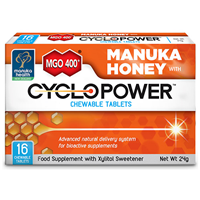 MGO 400+ Manuka Honey with CycloPower - 16 Chewable Tablets