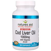 Natures Aid Cod Liver Oil - 90 x 1000mg Capsules