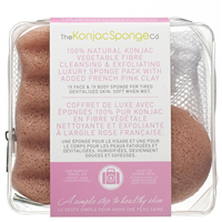 The Konjac Sponge Co Exfoliating Konjac Sponge Pack