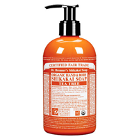Dr Bronner`s Organic Tea Tree Hand & Body Shikakai Soap 355ml