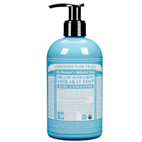 Dr Bronner`s Organic Unscented Hand & Body Shikakai Soap 355ml