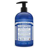 Dr Bronner`s 4-in-1 Sugar Peppermint Pump Soap - 710ml