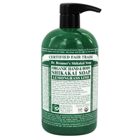 Dr Bronner`s Organic Lemongrass Lime Hand & Body Shikakai Soap 710ml